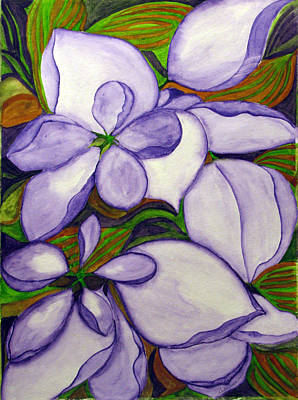 Poster featuring the painting Modern Mussaenda by Debi Singer