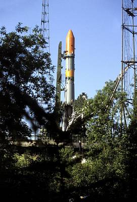 Molniya Launcher On Launch Pad Poster