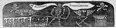 Momento Mori, Remember Death, Woodcut Poster