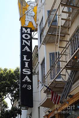 Mona Lisa Restaurant In North Beach San Francisco Poster