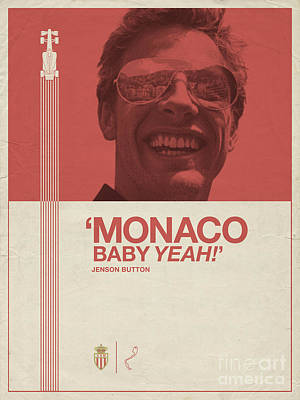 Monaco Baby Poster by Tim Bird