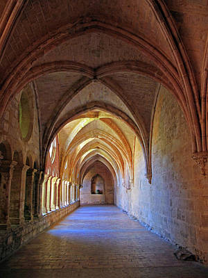 Poster featuring the photograph Monastery Passageway by Dave Mills