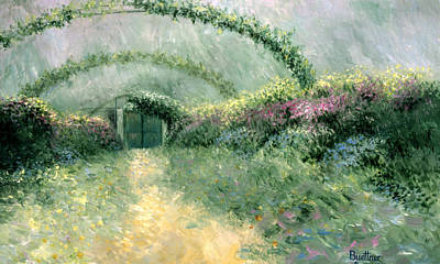 Poster featuring the painting Monet's Trellis IIi by Lynn Buettner