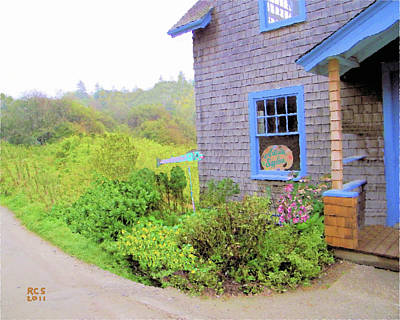 Poster featuring the digital art Monhegan Gallery by Richard Stevens