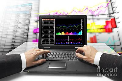 Monitor On Chart Poster by Atiketta Sangasaeng