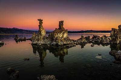 Mono Lake Tufa At Sunrise Poster