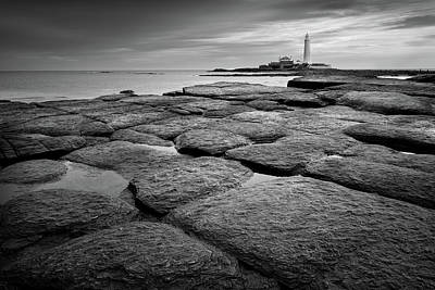 Mono Shot Of Northumbrian Lighthouse Poster by Billy Currie Photography