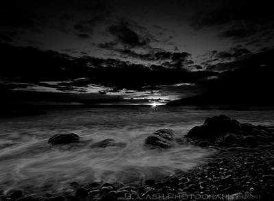 Monochrome Sunset  Poster by Beverly Cash