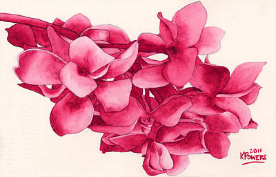 Monotone Floral Poster by Ken Powers