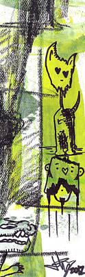 Monster Totem Poster by Jera Sky