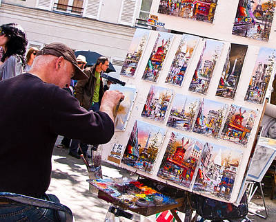 Montmartre Street Artists Poster by Jon Berghoff