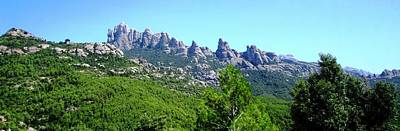 Montserrat Mountain Range Panoramic View Near Barcelona Spain Poster