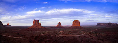 Monument Valley At Dusk Poster by Andrew Soundarajan