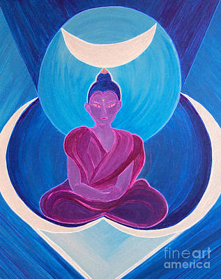 Moon Buddha By Jrr Poster