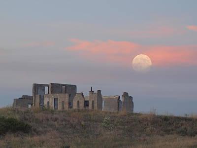 Moon Over Fort Laramie Poster