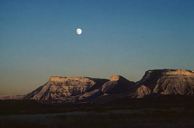 Moon Rise Over Mesa Verde Poster