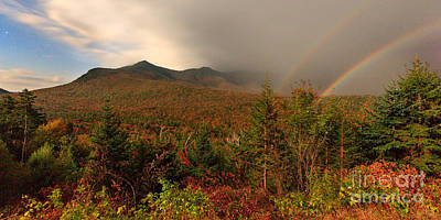 Poster featuring the photograph Moonbow Over The Kancamagus by Charles Kozierok