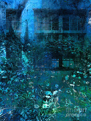 Moonlight In The Garden Poster by Ann Powell