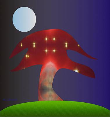 Poster featuring the digital art Moonlight Sonata by Asok Mukhopadhyay