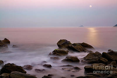 Moonrise At Maresias Beach Poster by Keith Kapple