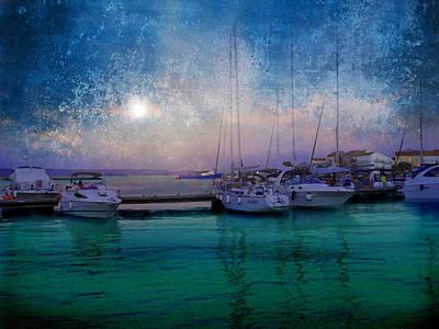 Moonrise At The Bay In Kukljica Croatia Poster