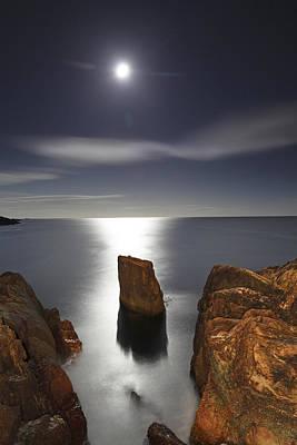 Mysterious Ocean Moonrise Poster