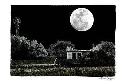 Poster featuring the photograph Moon's Light by Travis Burgess