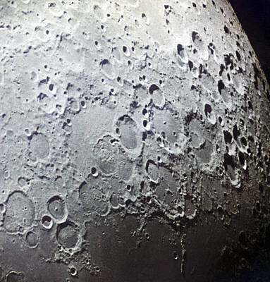Moon's Surface, Zond 7 Image Poster by Ria Novosti