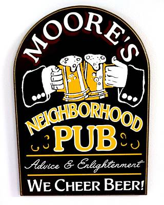 Moore Neighborhood Pub Poster by Christopher Kerby