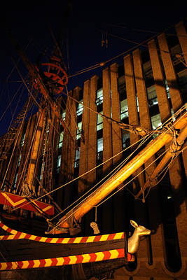 Moored For The Night Poster by Jez C Self