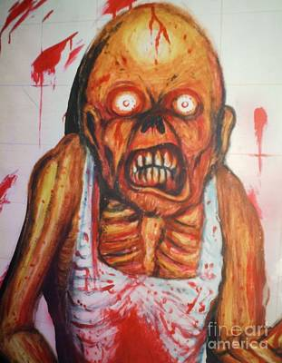 Mopping The Morgue Poster by Matt Detmer
