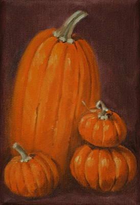 More Pumpkins Poster by Linda Eades Blackburn