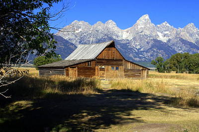 Poster featuring the photograph Mormon Row Barn by Marty Koch