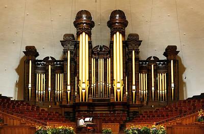 Mormon Tabernacle Pipe Organ Poster by Marilyn Hunt