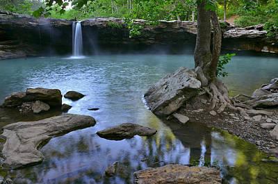 Morning At Falling Water Falls Poster by Jeff Rose
