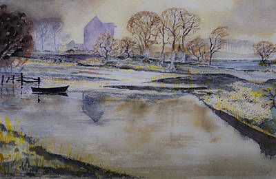 Poster featuring the painting Morning Calm by Rob Hemphill