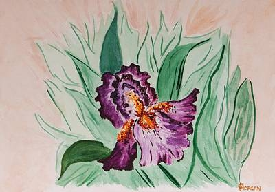 Poster featuring the painting Morning Iris by Cynthia Morgan