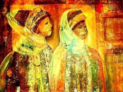 Moroccan Women Collage Poster by Patricia Rachidi