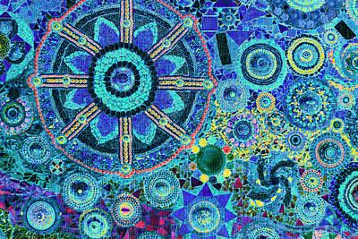 Mosaic Art Design Poster by Bou Lemon
