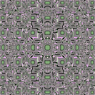 Mosaic Jade Pattern Poster by Deborah Juodaitis
