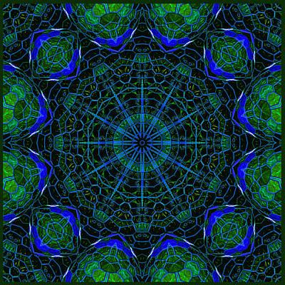 Poster featuring the digital art Mosaicglobe Kaleidoscope by Barbara MacPhail