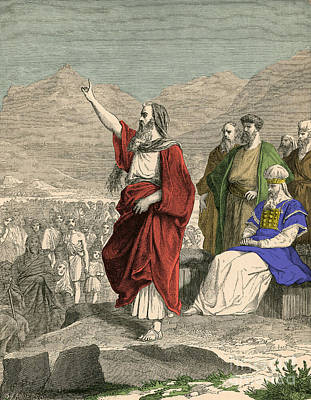 Moses, Christian, Hebrew And Muslim Poster by Photo Researchers