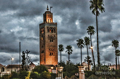 Mosque Marrakesh I Poster by Chuck Kuhn