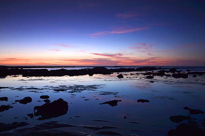 Moss Beach - Fitzgerald Reserve Reflection Poster