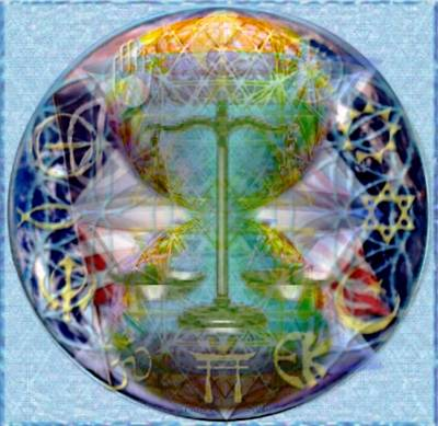 Mother Earth Balancing Peace Poster by Christopher Pringer