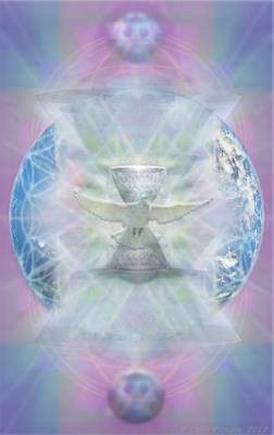 Mother Earth Dove And Chalice Poster