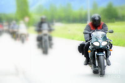 Motorcyclists Poster
