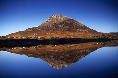 Mount Errigal, Lough Nacung, Dunlewy Poster by Gareth McCormack