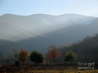 Mount Hermon In Fall Poster by Issam Hajjar