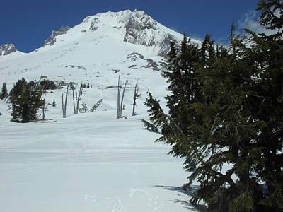 Mount Hood Oregon Ski Trail Poster